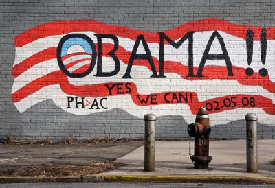 OBAMA!! YES WE CAN! Tracy Collins auf flickr, CC-BY-NC-SA 2.0