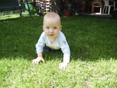 Aleandro im Garten