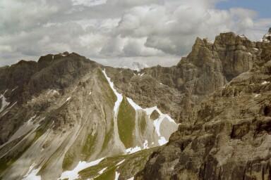 Blick zurück auf das Gstreinjöchl (2540m)