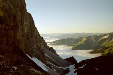 Blick von der Pflerscher Scharte (2599m) Richtung Italien