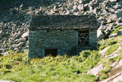 Meine Unterkunft auf der Alpe d'Alpigia (1980m)