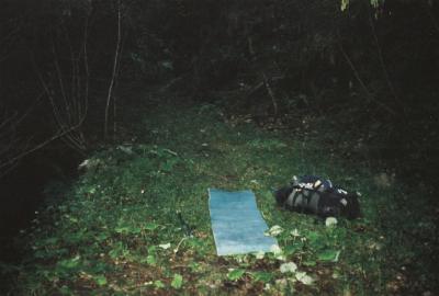 Mein Schlafplatz (1300m) bei Les Assets