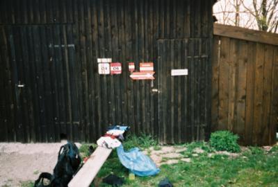 Scheunen-Notlager neben der Enzianhütte (1107m)