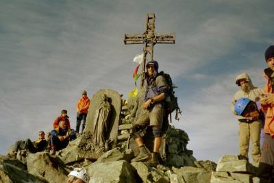 Ich auf dem Monviso-Gipfel (3841m)