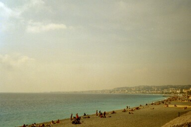 Am Strand in Nizza (0m)
