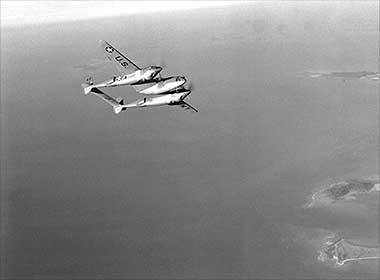 verlorene P-38 Lightning