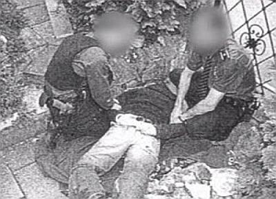 Symbolbild Gewalt- und Justizmonopol mit ungesühntem lagebedingten Erstickungstod im 11. 9.- Aargau