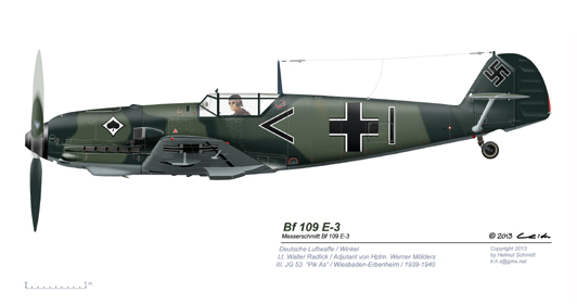 Bf-109-E-3-Walter-Radlick