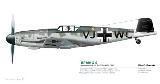 Bf-109-G-0-V48-V-Leitwerk