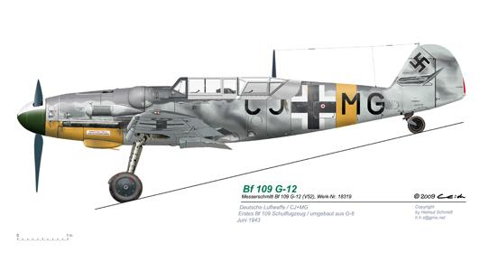 Bf-109-G-12-V52-CJ-MG
