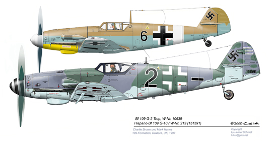 Bf-109-G-2-G-10-Formation