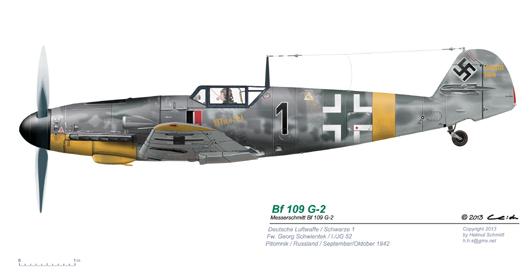 Bf-109-G-2-Schwarze-1-Fw-Georg-Schwientek-I-JG-52