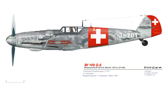 Bf-109-G-6-J-701-Schweizer-Fliegertruppe
