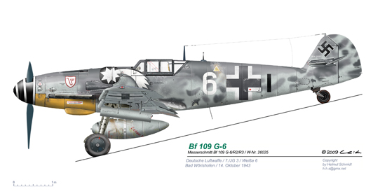 Bf-109-G-6-R2-W-Nr-26025-Weisse-6-