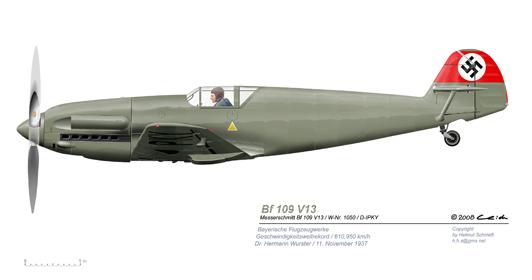 Bf-109-V13-Rekord-vL