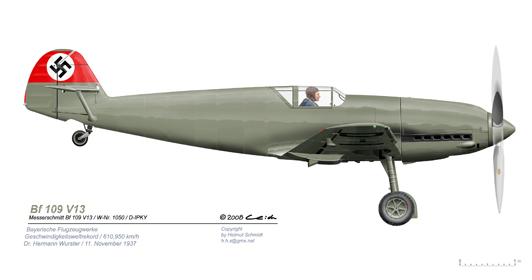 Bf-109-V13-Rekord-vR