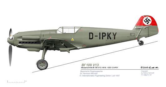 Bf-109-V13-vL-Zuerich-19371