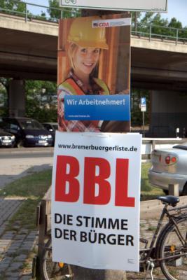 Plakate von CDA und BBL