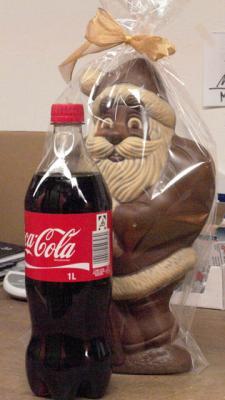 Mein Weihnachtsmann aus Schafmilch-Schokolade