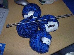 Blaue-Wolle
