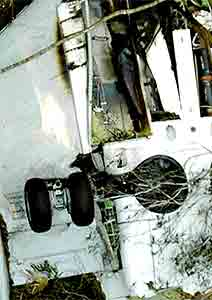 Fahrgestell der abgestürzten Boeing