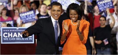 Barack und Michelle Obama im Wahlkampf