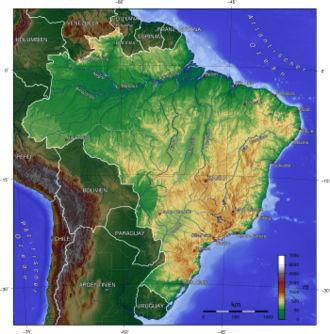 Brasilien (topographisch)