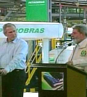 Bush und Lula in Brasilien