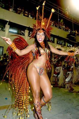 Karneval in Rio - Tänzerin fast nackt