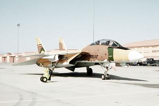 Eine F14 der US-Luftwaffe, zum Training bemalt wie ein Flugzeug der iranischen Luftwaffe
