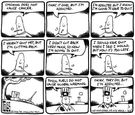 Treffende Karikatur