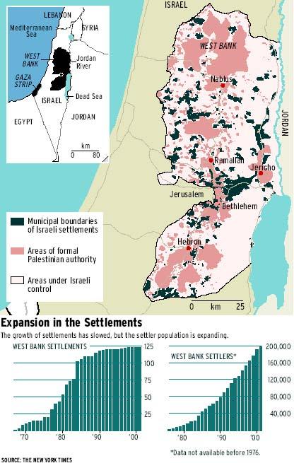 Die völlige Zerstückelung des palästinensischen Territoriums wird hier deutlich. Das ist keine Besatzung, das ist Annektion.