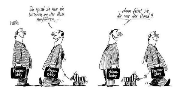 Karikatur Merkel Lobby