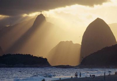 Rio de Janeiro, Zuckerhut und Corcovado von Niteroi aus