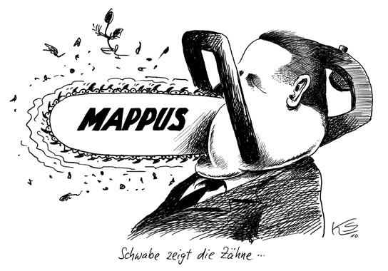 Mappus - Schwabe zeigt Zähne