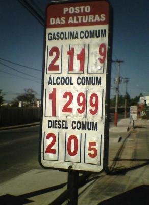 Treibstoffpreise Brasilien Juli 08