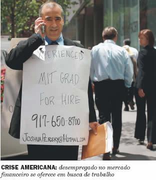 USA: Arbeitsloser Akademiker, Ende November 2008