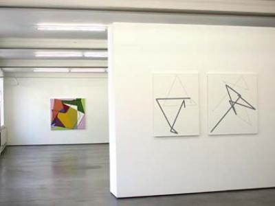 Ausstellung Manfred Mohr in der Galerie Mueller