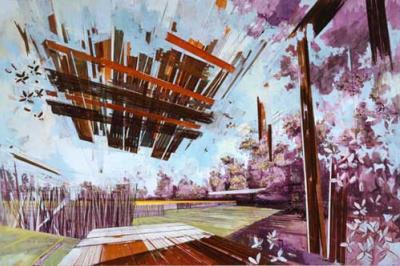 David Schnell, Acryl auf Leinwand, 2005