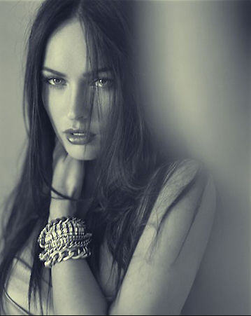 Megan Fox blackwhite