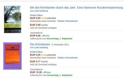 Meine Bücher bei Amazon