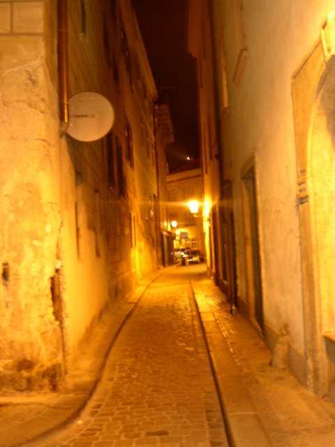 Irgend eine Gasse aus der Prager Altstadt
