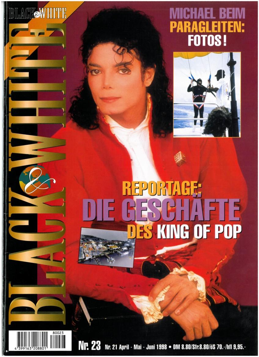 Entrevista a la chica en el escenario con Michael durante YANA, Munich 1997, HIStory tour Black-White-Cover