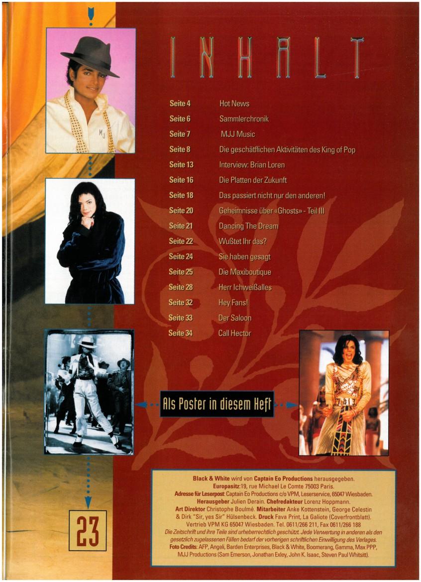 Entrevista a la chica en el escenario con Michael durante YANA, Munich 1997, HIStory tour Black-White-Inhalt