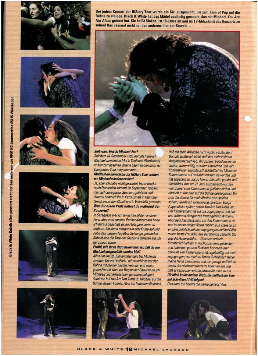 Entrevista a la chica en el escenario con Michael durante YANA, Munich 1997, HIStory tour Black-White-Page-11