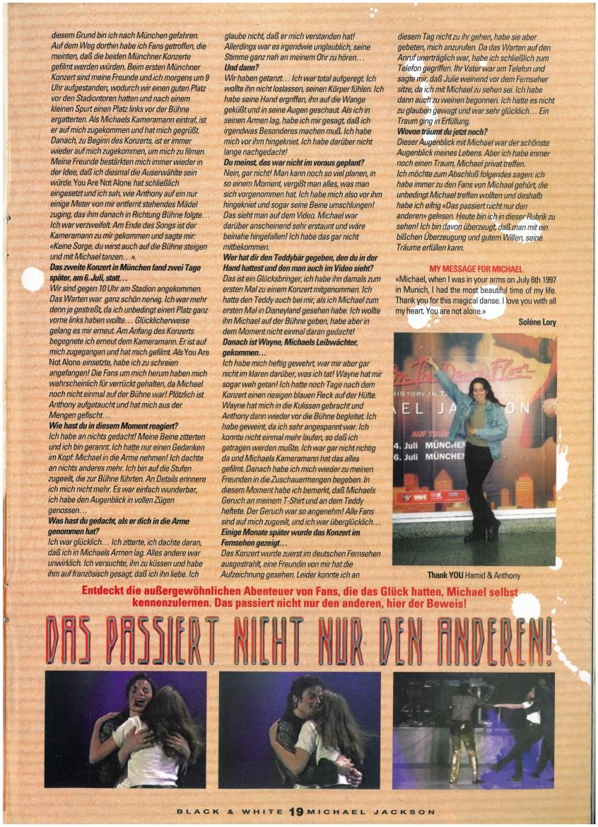 Entrevista a la chica en el escenario con Michael durante YANA, Munich 1997, HIStory tour Black-White-Page-2