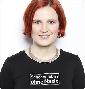 """Katja Kipping (DIE LINKE) unterstützt die Kampagne """"Schöner leben ohne Nazis"""""""