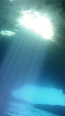 Unterwasser-Blick nach oben...