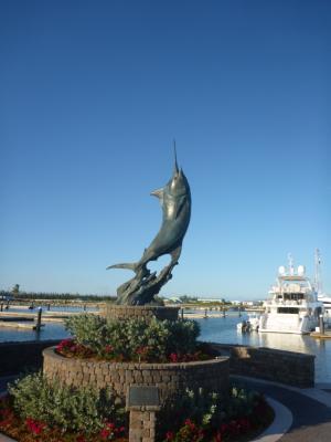 Der Marlin...<br /> Das Wahrzeichen vieler Marinas