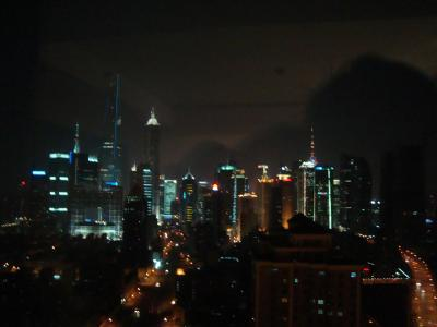So sieht die Skyline nachts aus. Sehr beeindruckend.